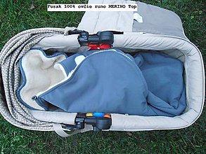 Textil - Fusak do kočíka zo 100% ovčej vlny MERINO top super wash - 7555803_