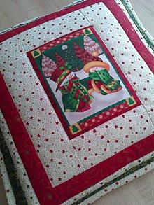 Úžitkový textil - Vianočný vankúš - 7552654_