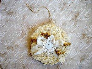Dekorácie - Vianočná Vintage guľa - 7552798_