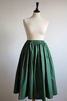 Sukne - zelená rozprávková sukňa - 7555316_
