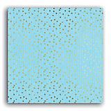 - PE511 Papier Mahé2 216 g/m² 30,5×30,5cm Pastelovomodré&zlaté - 7555095_