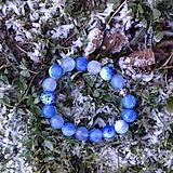 Náramok z modrého brúseného achátu