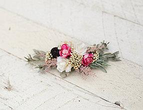 Ozdoby do vlasov - Kvetinový hrebienok pre nevestu \