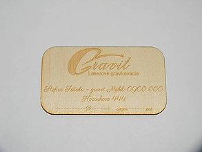 Nezaradené - Originálna drevená vizitka na želanie - 7554111_