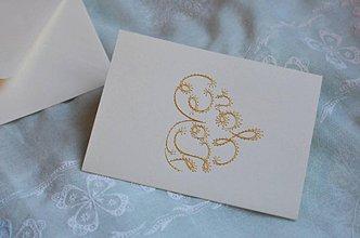 Papiernictvo - Vyšívaná pohľadnica - I love you - 7553049_