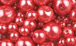 - Voskované perličky 50 g - ružové koralové - 7553820_