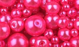 - Voskované perličky 50 g - ružové výrazné - 7553829_