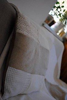 Úžitkový textil - Béžový vankúš - 7552072_