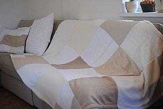 Úžitkový textil - Béžová deka - 7552144_