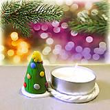 Svietidlá a sviečky - Svietnik vianočný stromček - 7555872_