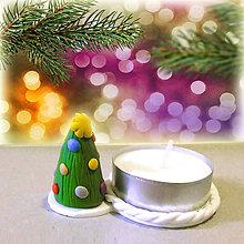 Svietidlá a sviečky - Svietnik vianočný stromček (farebný NA ZÁKAZKU) - 7555872_