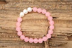 Náramky - Náramok ruženín a perly - 7558314_