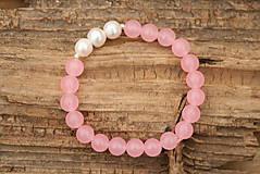 Náramky - Náramok ruženín a perly - 7558315_