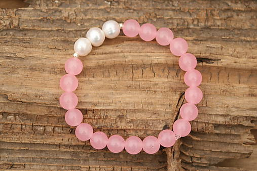 Náramok ruženín a perly