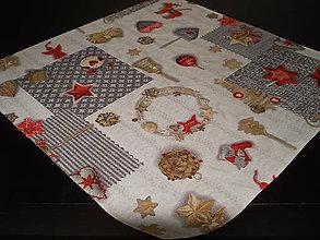 Úžitkový textil - Obrus - Vianočné dekorácie červené - 7559479_