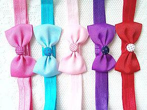 Ozdoby do vlasov - Baby girl elastic headbands - 7557631_