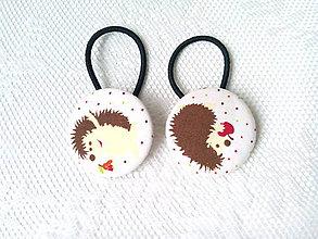 Ozdoby do vlasov - BonBon gumičky – buttonky (ježkovia) - 7557754_