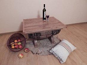 Nábytok - Sudový stolík (Wine barrel table)  (2.) - 7558833_
