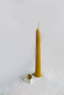 Svietidlá a sviečky - Včelí kRAJ: Sviečka z včelieho vosku - dlhá - 7558633_