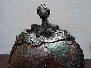 Socha - Keramika, Exotická s turbanem - 7559086_