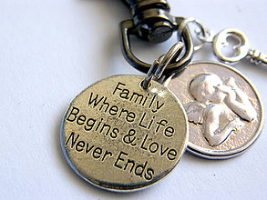 Kľúčenky - rodina - klucenka - 7559510_