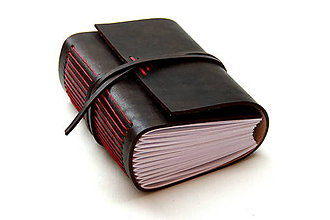 Papiernictvo - Zápisník z pravej kože KAKLET - 7556107_
