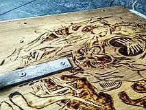Iné - MOTO držiak na prilbu vol 5 Chopper art - 7560038_