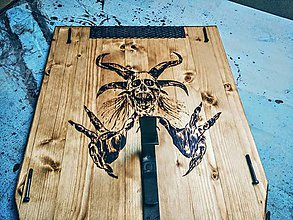 Iné - MOTO držiak na prilbu vol 4 Chopper art - 7560073_