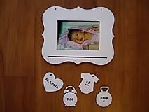 Rámiky - Rámik + prívesky s údajmi o narodení - 7559544_