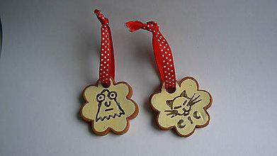 Dekorácie - Keramické prívesky - Halloween sada 2 ks - 7558108_