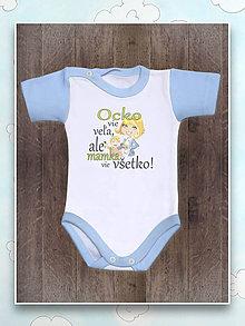 Detské oblečenie - Ocko vie veľa.. body - 7558704_