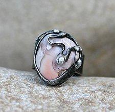 Prstene - Ružový achát prsteň - 7560125_