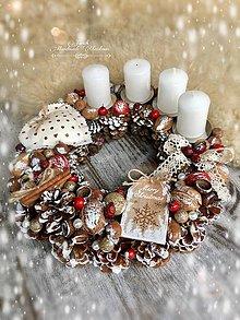 Dekorácie - Milujem Vianoce Adventný veniec SKLADOM - 7557424_