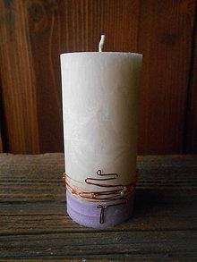 Svietidlá a sviečky - Vianočná sviečka s drôteným stromčekom - 7558202_