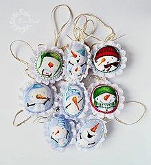 Dekorácie - Sada 8 snehuliakových salóniek - 7563645_