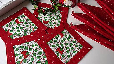 Úžitkový textil - Red Cardinal ... podšálky 4 ks - 7564545_