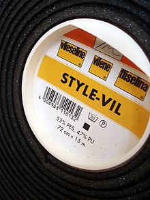 Textil - Style-Vil čierny - penová výstuž - 7560976_