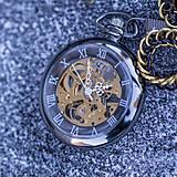 - Mechanické vreckové hodinky s krúžkovanou reťazou - 7560863_