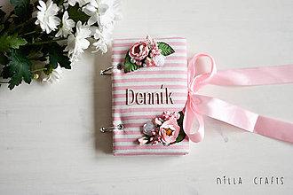 Papiernictvo - Hladkací zápisník - Romantický denník - 7561707_