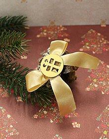 Dekorácie - vianočné ozdoby_ šišky zlaté - 7560574_