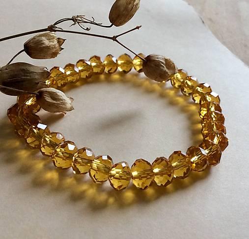 005880697 AKCIA! Zlatý náramok krištáľový / SwaroK - SAShE.sk - Handmade Náramky