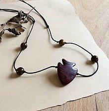 Šperky - Pánsky zaťahovací náhrdelník z minerálov tyrkys, tigrie oko - 7562186_