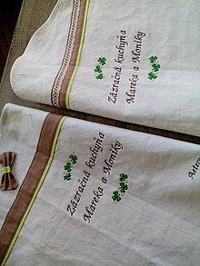 Iné oblečenie - Ľanová zástera - objednávka na želanie z tradičného ľanového plátna - 7562820_
