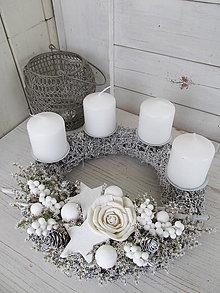 Dekorácie - biely Advent - 7563506_