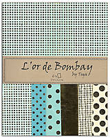 - PR15 Papier L'OR DE BOMBAY – sada 6 ks 27,8×21,6 cm Mätová, zlatá - 7561803_