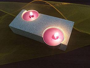 Svietidlá a sviečky - Betónový svietnik SINUOSO na čajové sviečky