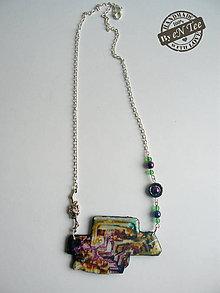 Náhrdelníky - Náhrdelník ala Bismuth 2. - 7563326_