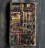 - Knihy- vintage Diár 2017 pánsky-dámsky s vymeniteľným vnútro - 7563102_