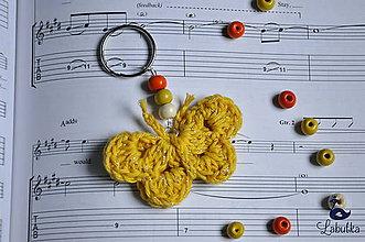 Kľúčenky - Prívesok - žltý motýľ - 7564060_