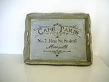 Nádoby - Podnos Café Paris - 7564425_